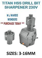 TITAN HSS trapano temperamatite 230 V-Dimensioni: 3-16 mm-NO Load Velocità: 1600 RPM