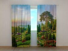 Fotogardine schöner Garten Wald Natur Vorhang Fotodruck Fotovorhang auf Maß