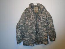 USGI ARMY COMBAT ACU FIELD JACKET M-65 COLD WEATHER COAT 2008 MEDIUM LONG W-10