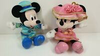 Tokyo Disney Easter 2015 Mickey and Minnie Mouse plush set blue pink outfits