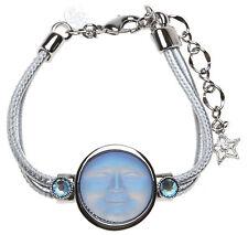 KIRKS FOLLY METALLICA SEAVIEW MOON BRACELET  light sapphire ab / silvertone
