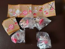 Kitan Club Pokemon Pink Painting Figure Gashapon x4 Mew Jigglypuff Chansey