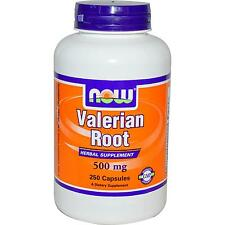 NOW FOODS - VALERIAN ROOT - 500mg x 250 CAPSULES - MOOD & RELAXATION AID