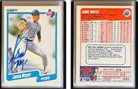 Jamie Moyer Signed 1990 Fleer #307 Card Texas Rangers Auto Autograph