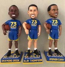 Set of 2016 Golden State Warriors 73 Wins Bobbleheads Curry Green Thompson