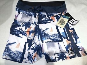 QUIKSILVER Core Collection Boardshorts BRAND NEW TAGS Navy Trunks Shorts Mens 32
