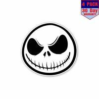Jack Skellington 4 Stickers 4X4 Inch Sticker Decal