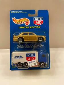 1998 2-CAR PACK Hot Wheels Rite Aid HAULER Truck & GOLD Mercedes-Benz NEW   R1