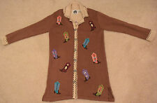 """Storybook Knits """"Great Boots"""" Western Sweatercoat - Brand New!"""
