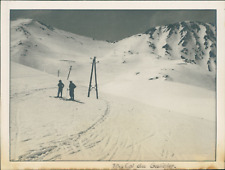 France, 1940, Col du Galibier Vintage silver print. Tirage argentique d&#039