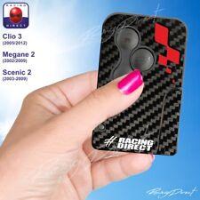 Sticker Renault Sport Carbone et Rouge Clio Megane Scenic  clé carte 198