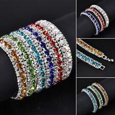 New 925 Silver Crystal Rhinestone Gem Wedding Bridal Tennis Bracelet Gift new