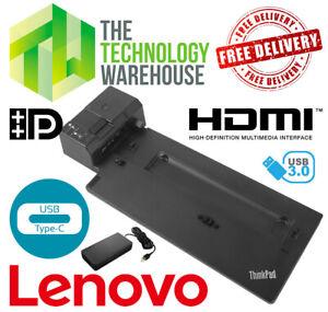 Lenovo ThinkPad Ultra Docking Station 40AJ USB Type C + 3.1 + HDMI +Power Supply