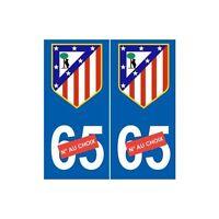 Club Atlético de Madrid foot sticker autocollant plaque arrondis