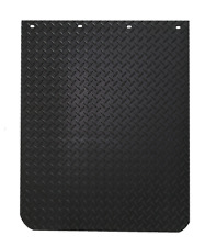 "DIAMOND PLATE DESIGN POLY/RUBBER 24""x30"" MUD FLAPS - PAIR"
