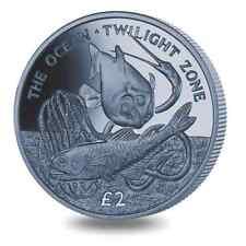 2016 South Georgia & Sandwich Islands Twilight Ocean Titanium Coin w/box & COA