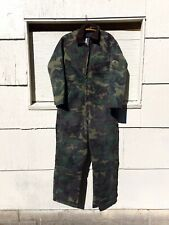 Vintage Liberty Insulated Coveralls Medium Hunting Camo overalls Ex Cond USA