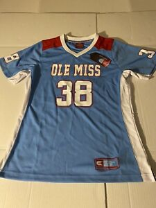 Ole Miss Rebels Women's Small  #38 Sky Blue Chucky Mullins NCAA Licensed  Jersey