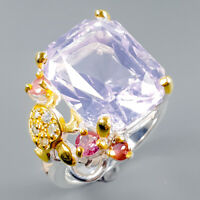 Women Jewelry Natural Lavender Amethyst 925 Sterling Silver Ring Size 8/R114964