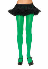 Nylon Lycra Opaque Kelly Green Thigh Highs Leg Avenue Queen Size