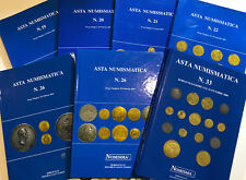 Asta. Nomisma. Italian Italy Gold Silver Coin Catalog Reference. Set of 7. RARE