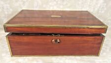 Antique Traveling Desk w/ Brass Corners Walnut Wood Very Nicely Done