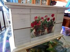 Wood items Handcrafted Wooden Container With Hinges Finished Pieces Home Decor