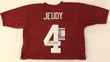 Jerry Jeudy Autographed Alabama Crimson Tide Custom Jersey JSA COA