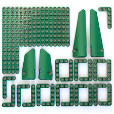 Lego Technic - Dark Green Studless Beams Liftarms Panels Bricks - 39 Parts - NEW