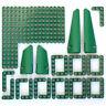 Lego 39x Genuine Technic Dark Green Studless Beams Liftarms Panels Bricks NEW
