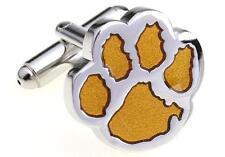 Tiger Paw Cufflinks Silver Gold Clemson Wedding Fancy Gift Box Free Ship USA