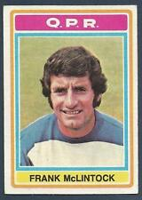 TOPPS 1976 FOOTBALLERS #111-QPR-ARSENAL & SCOTLAND-LEICESTER-FRANK McLINTOCK