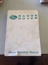 Repair Operation Manual Land Rover