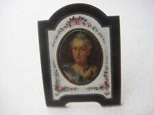 Russian Royalty Catherine II Miniature Portrait Ca 1796