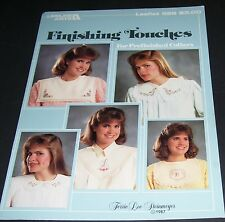 LEISURE ARTS COUNTED CROSS STITCH PATTERN LEAFLET FINISHING TOUCHES FOR COLLARS