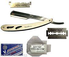 Straight Barber Edge Steel Men Shaving Razors Folding with 10pcs Blades S01Steel