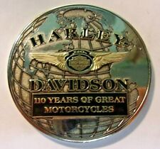 "2013 HARLEY DAVIDSON 110th Anniversary Medallion - 3"" diameter - Chrome"