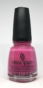 China Glaze Nail Polish Rich & Famous 207 Bright Fiesta Pink Creme Lacquer