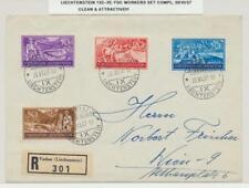 LIECHTENSTEIN 1937 travailleurs fixé sur lettre recommandée PREMIER JOUR