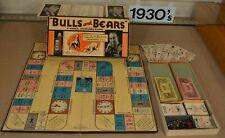Stock Market Bull and Bear 1936 Parker Brothers Darrow Game AT&T, GE, GM, Kodak