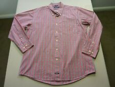 028 MENS NWOT NAUTICA WHITE / RED / NAVY / GOLD CHECK L/S SHIRT SZE XL $110 RRP.