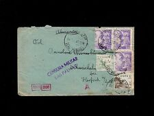 Germany Spain Double Censor Munich Office 1940 Cover & Typed Letter 8p