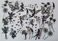 mixed fairy pack + butterflies + extras scrapbooking die cuts toppers fairy jars