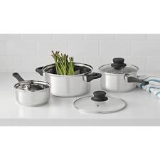 Mainstays 5-Piece Stainless Steel Cookware Set