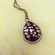 Lovely Brown Dragon Egg Pendant On Bronzed Necklace GOT daenerys Game Of Thrones