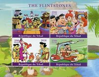 Chad 2018 MNH The Flintstones Fred Barney 4v M/S Hanna-Barbera Cartoons Stamps