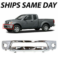 NEW Chrome Steel Front Bumper Fascia for 2005-2008 Nissan Frontier W/ Fog 05-08