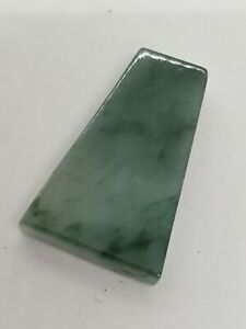 Ice Green Burmese Jadeite Jade Polished Raw Stone /冰晴水飘花缅甸翡翠原石片料