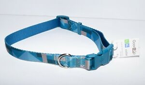 Good 2 Go Blue Multicolor Adjustable Dog Collar L XL 16-26 Inches - New With Tag