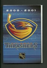 Atlanta Thrashers 2000-01 NHL Hockey Pocket Schedule